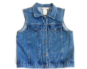 90's Women's Cropped Denim Vest