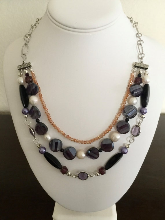 Purple Multi-Strand Necklace