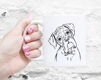 Cooper Boxer Dog Mug - Gifts For Dog Owner, Boxer Lover, Boxer Art, Boxer Gift, Boxer Dog, Boxer Dog Gift, Boxer Dog Love, Dog Art, Dog Love