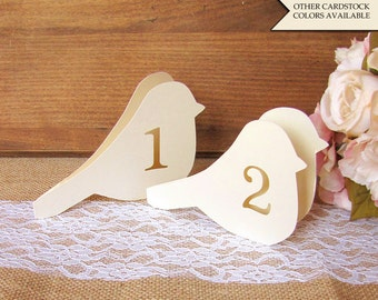 Bird table number - Wedding table numbers - Table numbers wedding - Love bird table numbers - Bird theme wedding - Reception table numbers