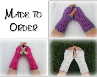 Custom adult armwarmers - made to order - handmade gift, crocheted fingerless gloves, wristwarmers, gifts for women, gifts for her