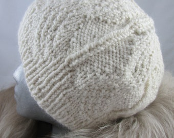 Hand Knit Alpaca and Wool Hat