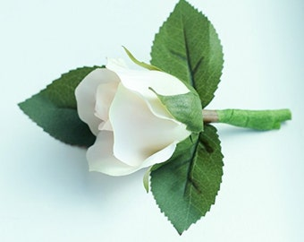 Medium Blush Rose Boutonniere - Silk Boutonniere