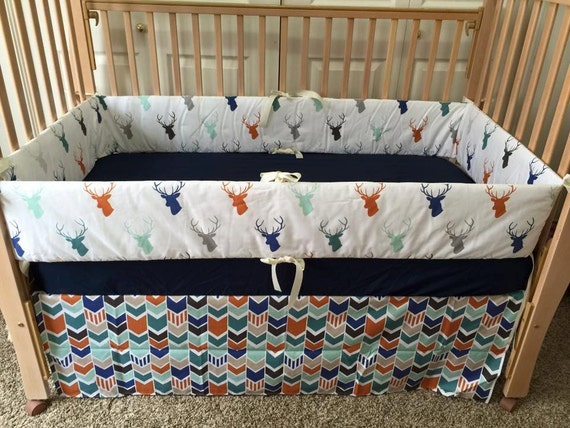 Deer Baby Bedding/Stag Bedding/Custom Crib By SewSweetBabyDesigns