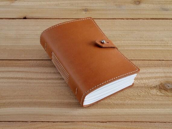 Warner - 4X6 Wheat, Handmade Leather Journal