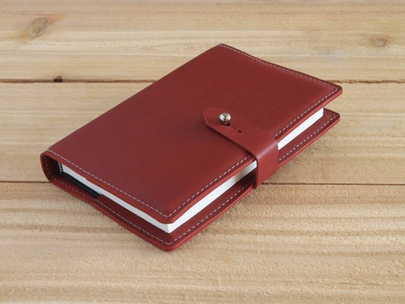 Wingate - 4X6 Refillable Red, Handmade Leather Journal