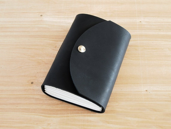 Freemont - 4X6 Black, Handmade Leather Journal