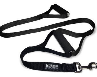 "Double Handle Dog Leash with Padded Grips - ""Leashboss Original"""