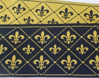 "Jacquard Ribbon Trim |1-1/2"" Inch Woven Jacquard Ribbon 