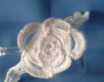 White Corsage Bracelet
