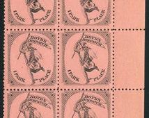 C. 1880 Boyd's Local Dispatch, New York City Local Post Office, Block of Six w/ selvege Scott #20L56
