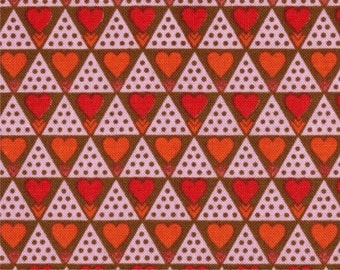 Hearts - Family Unit in Cherry, Pretty Potent Collection by Anna Maria Horner for Free Spirit 4144