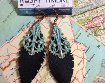 Leather Deco Earrings
