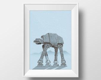 Frozen Walker - The Empire Strikes Back Poster