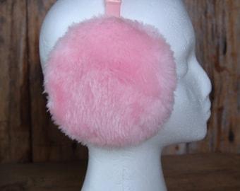 """Vintage """"Pretty in Pink"""" Faux Fur Ear Muffs"""