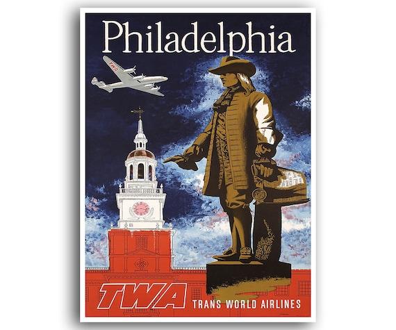 Philadelphia Travel Poster Retro Art Print Home Decor XR724