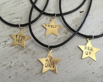 Hand-Stamped Hamilton Necklace (four styles to choose from)