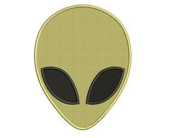 Alien Machine Embroidery Filled Design Digitized Pattern - Instant Download