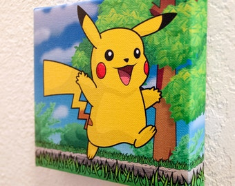 Pikachu - Pokémon Print on Canvas