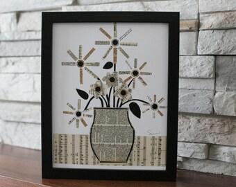 Flower Print Collage