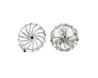 18K White Gold Jumbo Safety Earring Backs