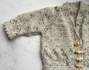 Little oaks hand knitted cardigan