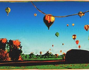Soft Landings - Color Reduction Woodcut Print