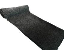 Variegated Gray Felted Wool  - Pure Wool Fabric - Shades of Gray Wool - Craft Wool - Rug hooking Wool - Primitive Wool - Wool Appliqué