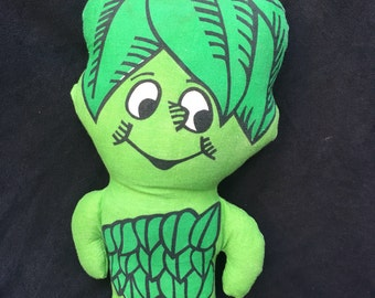 "ON SALE! Cute Vintage 1970's Green Giant ""Sprout"" Promotional Plush"