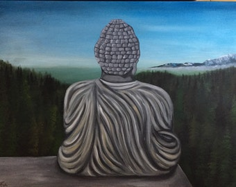 buddha forest painting
