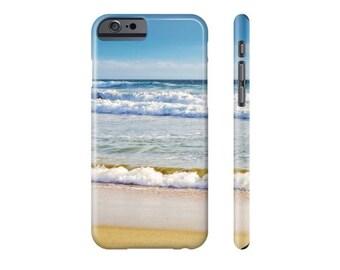 Beach phone case. Ocean waves iPhone 6, 6 Plus, 6s, 6s Plus, iPhone 5/5s, iPhone 5C, iPhone 4S/4, Samsung Galaxy S5, S6 Lexan case. Coastal