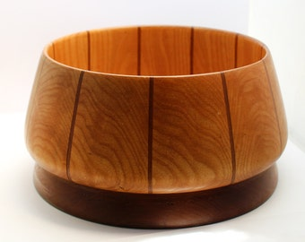 Inlaid Striped Serving Bowl