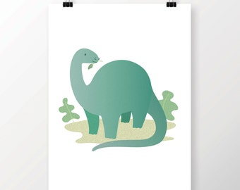 A4 Dinosaur Print - Diplidocus