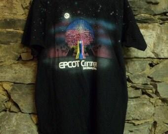 Vtg 80s Epcot Center Disney World T-shirt XL All Over print