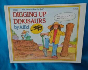 vintage 1988 Digging Up Dinosaurs book by Aliki