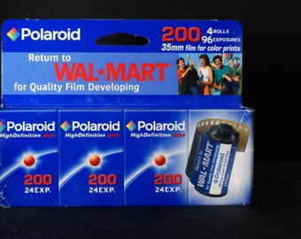 Pack of Four Polaroid 200 ISO 24 Exp. Expired 35mm Film