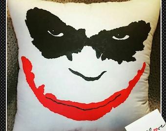 Joker Pillow Handpainted