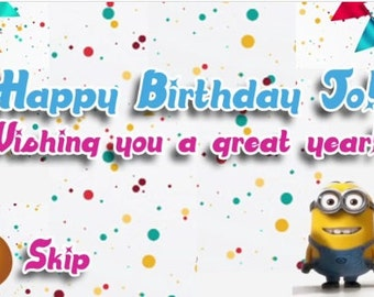 Amazing minion digtal bithday card and video