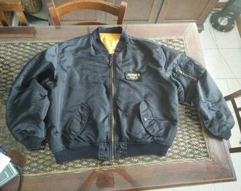 90s Avirex flyer's man intermediate  Ma-1 bomber jacket, made in Usa!