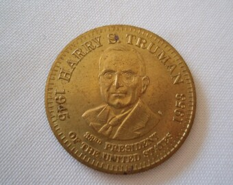 President Harry Truman Bronze Medal Collectible Medal Medallion a2463