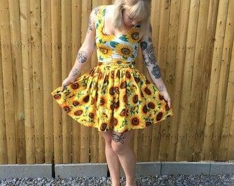 Sunflower Skirt with Pockets