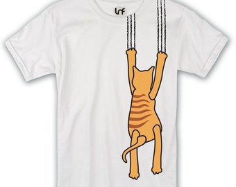 Funny Cat Claw Mens T-Shirt