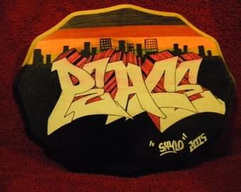 "Custom ""Peace"" Graffiti Plaque"
