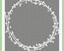Twig Wreath Machine Embroidery Design - comes in 4,5,6,7,8 inch sizes