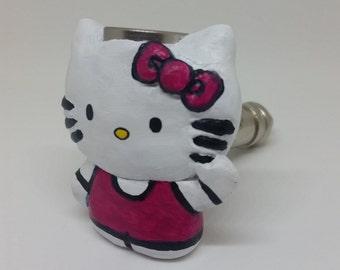 Cute Kitty Smoking Pipe