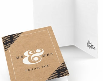 Wedding Thank You Cards - Better Together Thank You's - Wedding Celebration Thank You - Mr. & Mrs. Thank You - Set of 8 Folding Note Cards
