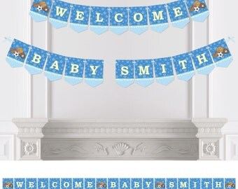 All Star Sports - Bunting Banner - Personalized Baby Shower or Birthday Party Decorations