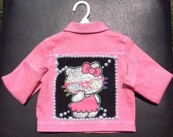 Hello Kitty Toddler Upcycle Jean Jacket