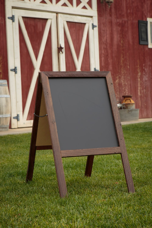 chalkboard reclaimed wood rustic wood sign sandwich board. Black Bedroom Furniture Sets. Home Design Ideas