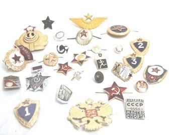 Grab Bag of Assorted Russian Military Replica Metal Badges
